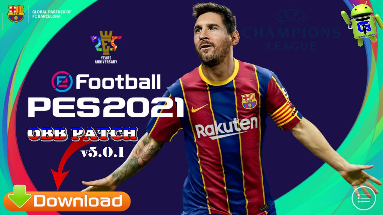 PES 2021 Mobile Patch UCL v5.0.1 Android Full License Download