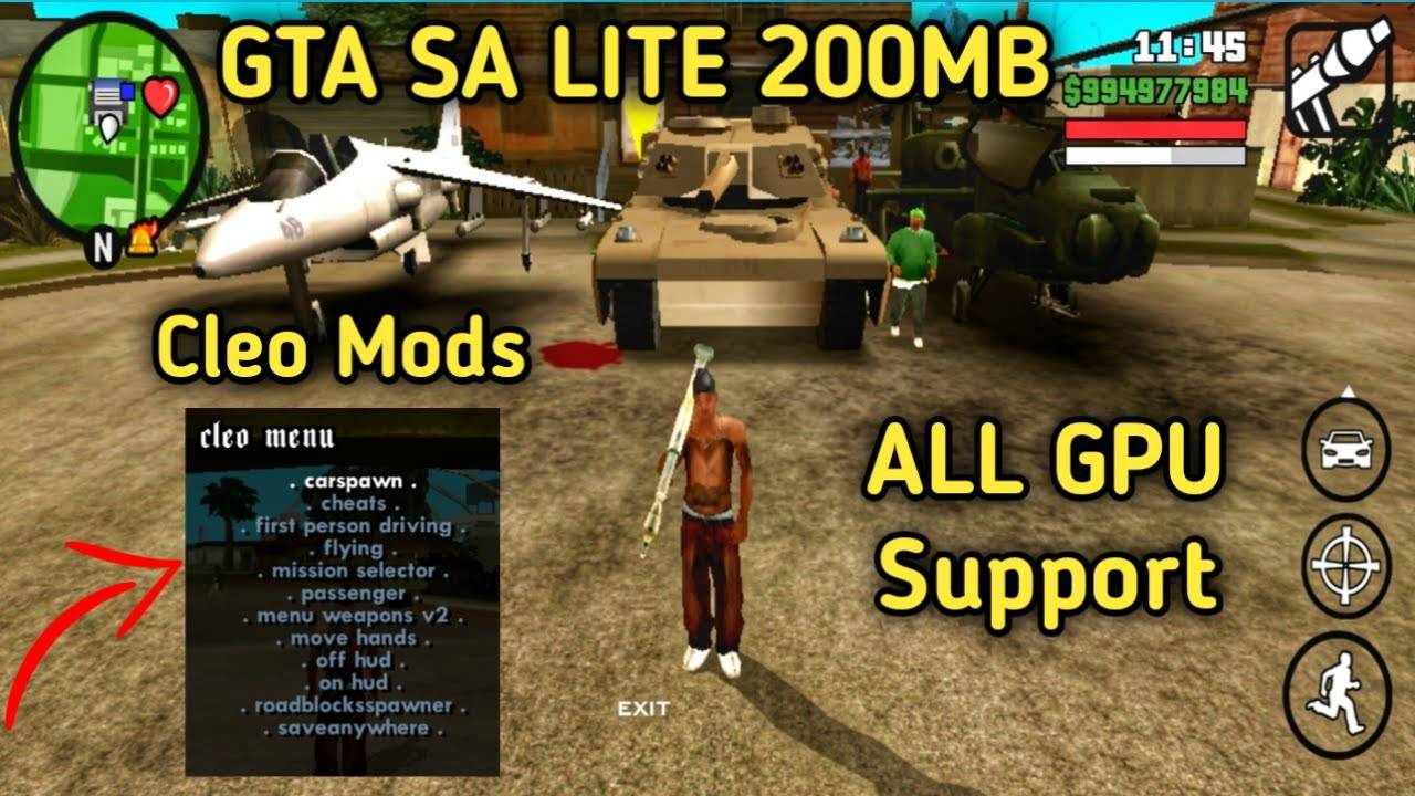 GTA San Andreas Lite Apk Mod Download