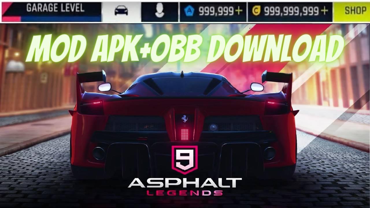 Asphalt 9 Legends MOD APK+OBB Unlocked Download