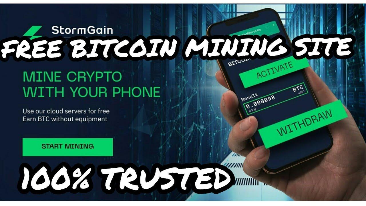 Earn Real Bitcoin BTC Mining Stormgain Free on Phone