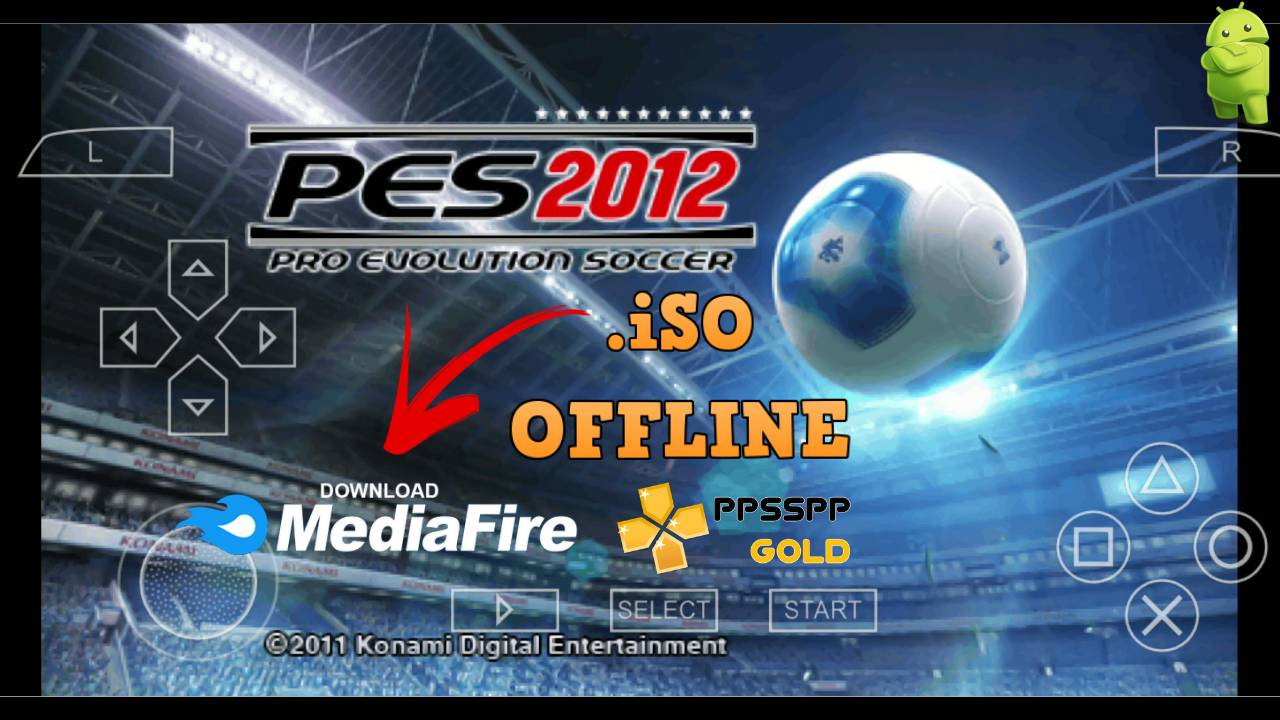 PES 2012 iSO PPSSPP with Gold Emulator for Android Free Download Lite Compressed Version. Update Latest Version PES 2012 Offline PPSSPP +SaveData+Textures+PS5 Camera on MediaFire.