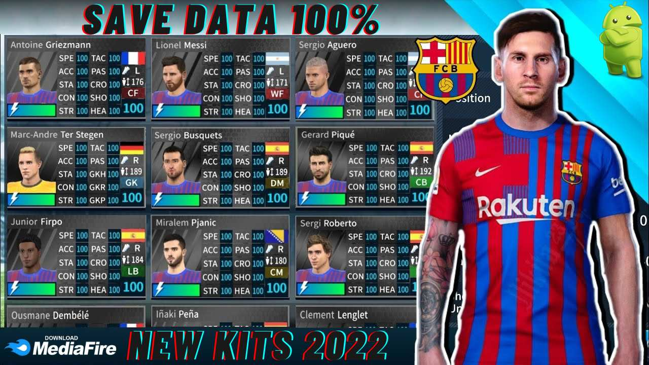 DLS 21 Barcelona Save Data KITS 2022 Android Download