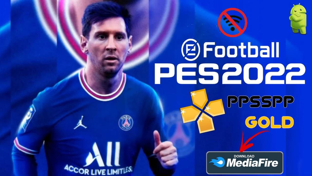PES 2022 Offline Android PPSSPP Messi to PSG Download