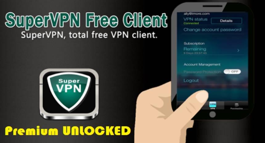 SuperVPN Mod APK Premium Unlocked for Android Download