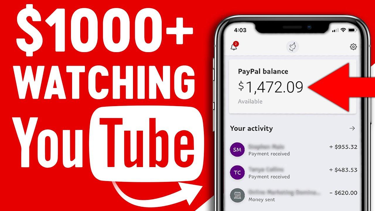 Make Money Online Watching YOUTUBE Videos